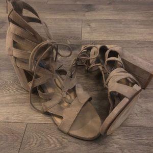 Steve Madden Lace Up Heel Sandals